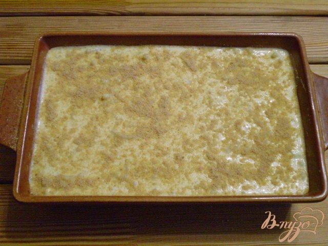 Фото приготовление рецепта: Лапшевник с творогом шаг №10