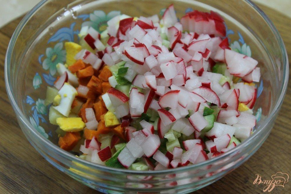 Фото приготовление рецепта: Весенняя окрошка с щавелем шаг №4