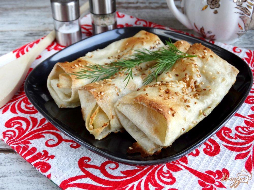 Фото приготовление рецепта: Ложные пирожки с картофелем и грибами шаг №8