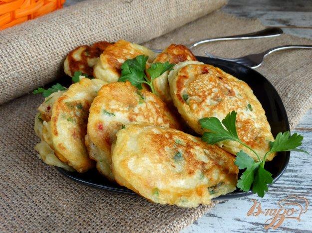 фото рецепта: Закусочные оладьи Светофор