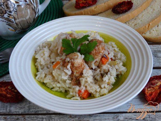 фото рецепта: Рис с куринымии фрикадельками и овощами в мультиварке
