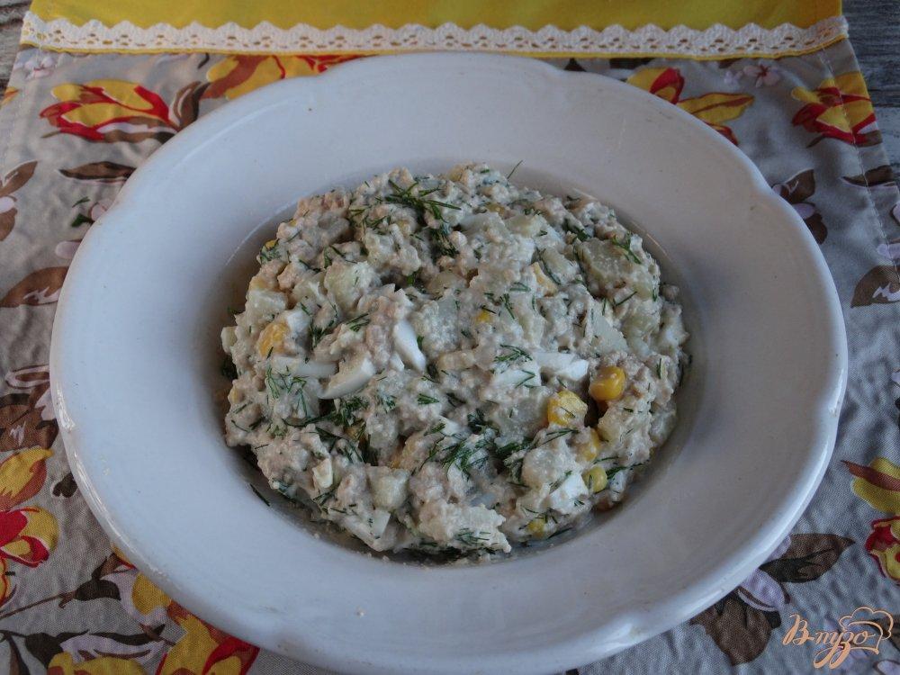 Фото приготовление рецепта: Салат Морской ёж шаг №7