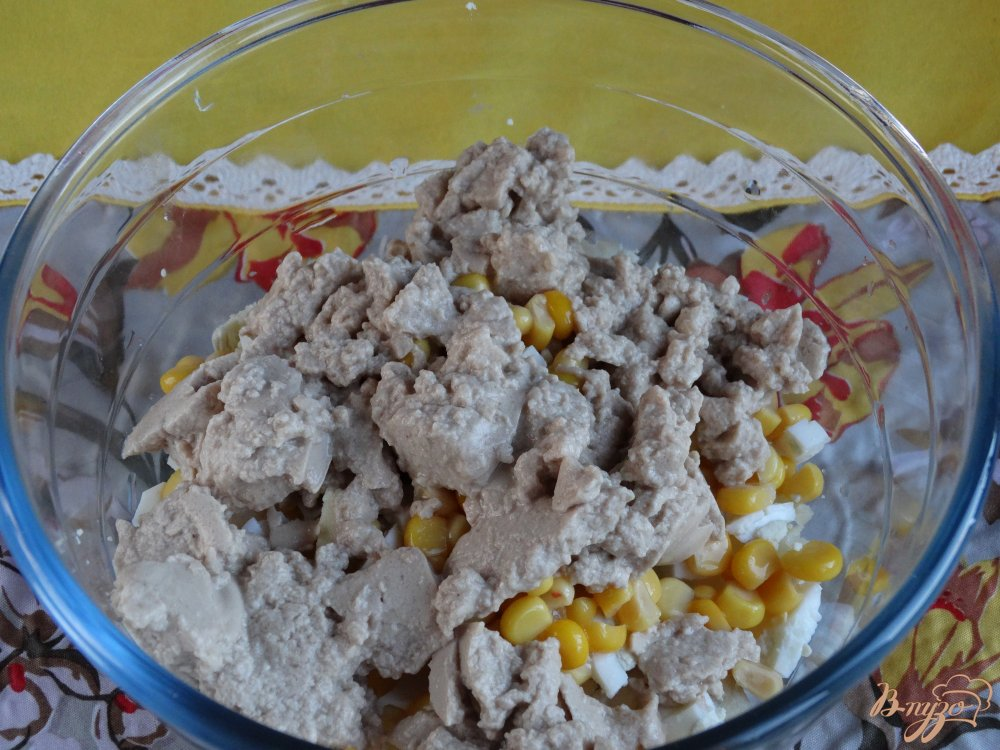 Фото приготовление рецепта: Салат Морской ёж шаг №4