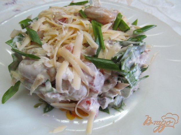 фото рецепта: Салат из курицы фасоли и помидора