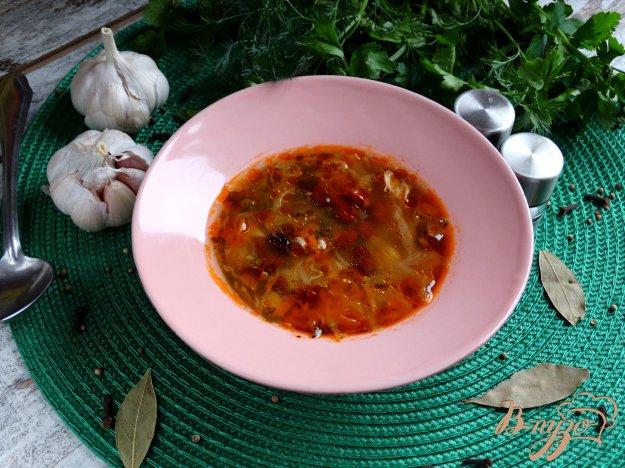фото рецепта: Щи с курицей и красной фасолью