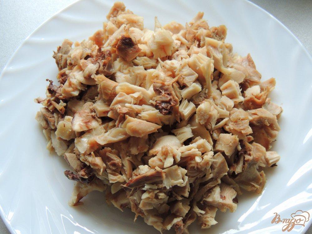 """Салат """"Пасхальный"""" с курицей и грибами"""