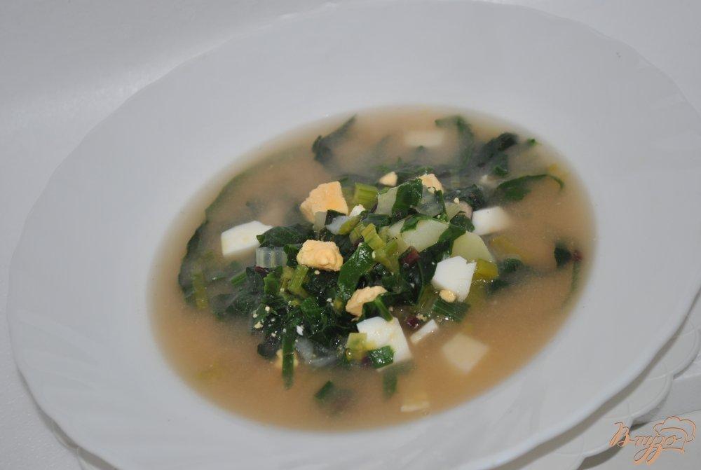Фото приготовление рецепта: Зеленый борщ шаг №9