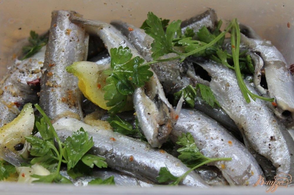 Фото приготовление рецепта: Мойва соленая в домашних условиях без воды шаг №5