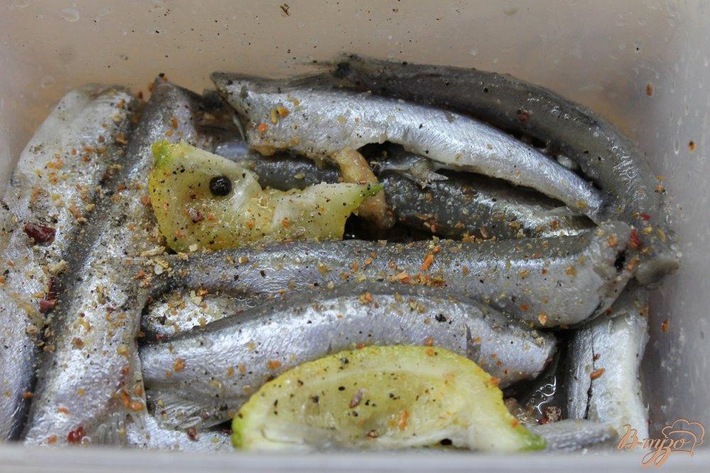 Фото приготовление рецепта: Мойва соленая в домашних условиях без воды шаг №4