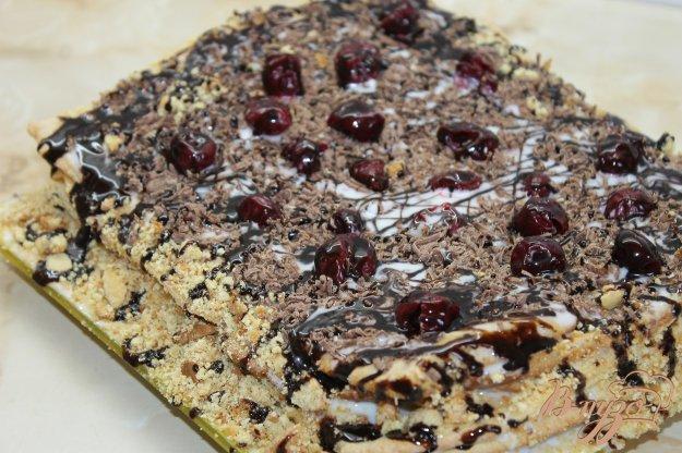 Торт медовик з сметанним кремом та шоколадною крихтою. Як приготувати з фот ...