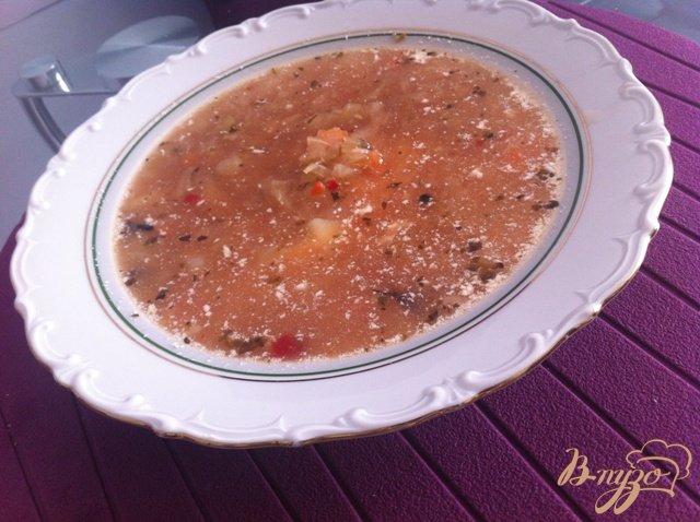 Фото приготовление рецепта: Щи из свежей капусты с сельдереем шаг №7