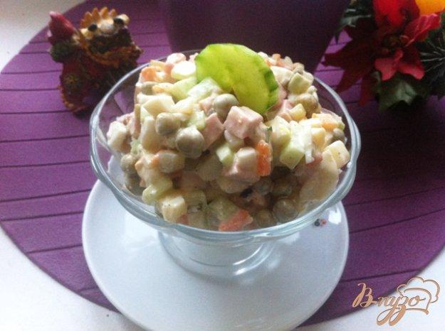 фото рецепта: Салат овощной с колбасой