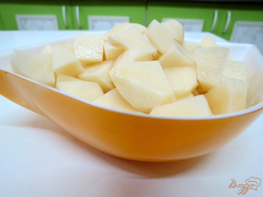 Фото приготовление рецепта: Рассольник с фасолью шаг №3