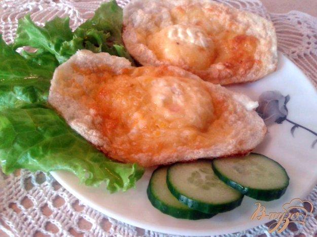 фото рецепта: Яичные гнездышки с сыром