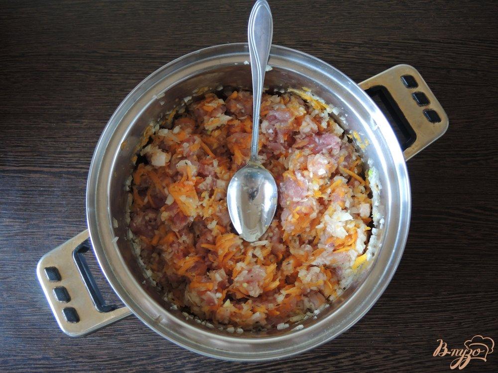 Фото приготовление рецепта: Манты в мультиварке шаг №6