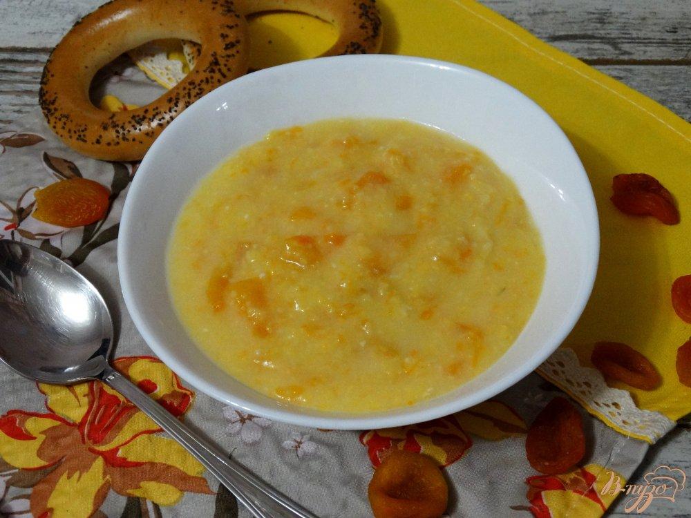 Фото приготовление рецепта: Тыквенно-кукурузная каша в мультиварке шаг №6
