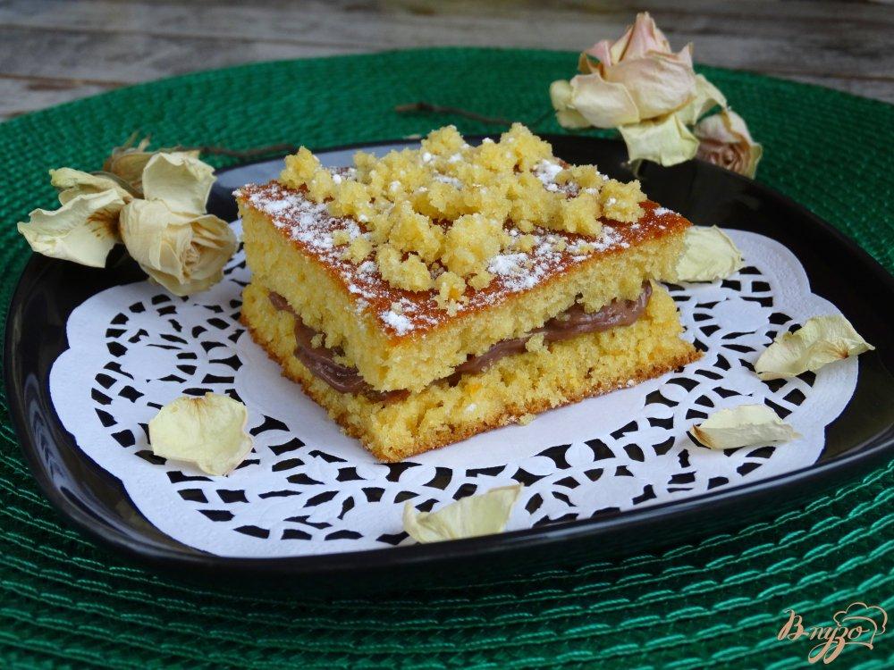 Фото приготовление рецепта: Тыквенные пирожные с заварным кремом шаг №12