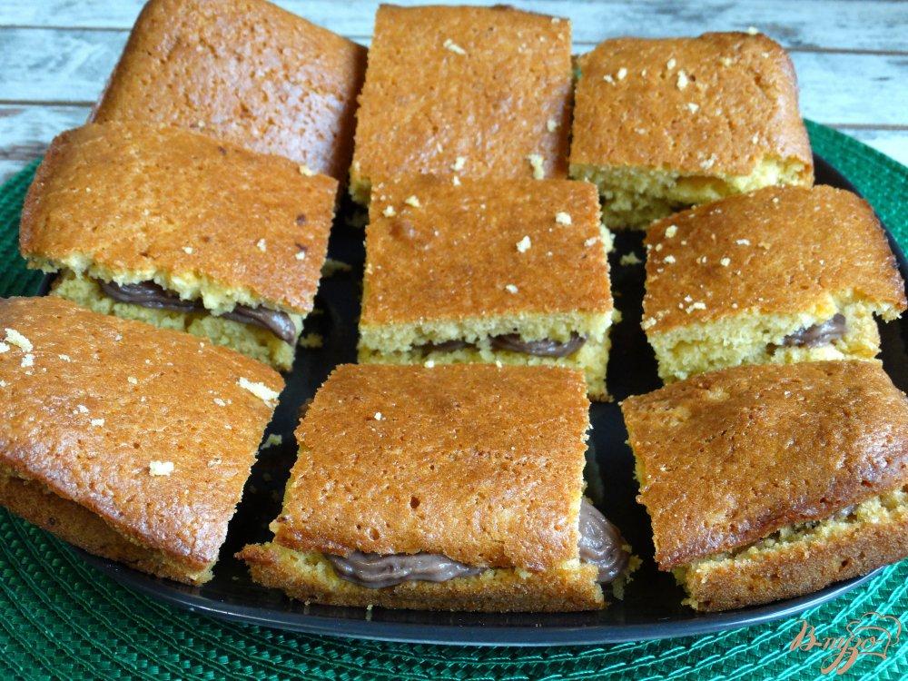 Фото приготовление рецепта: Тыквенные пирожные с заварным кремом шаг №11