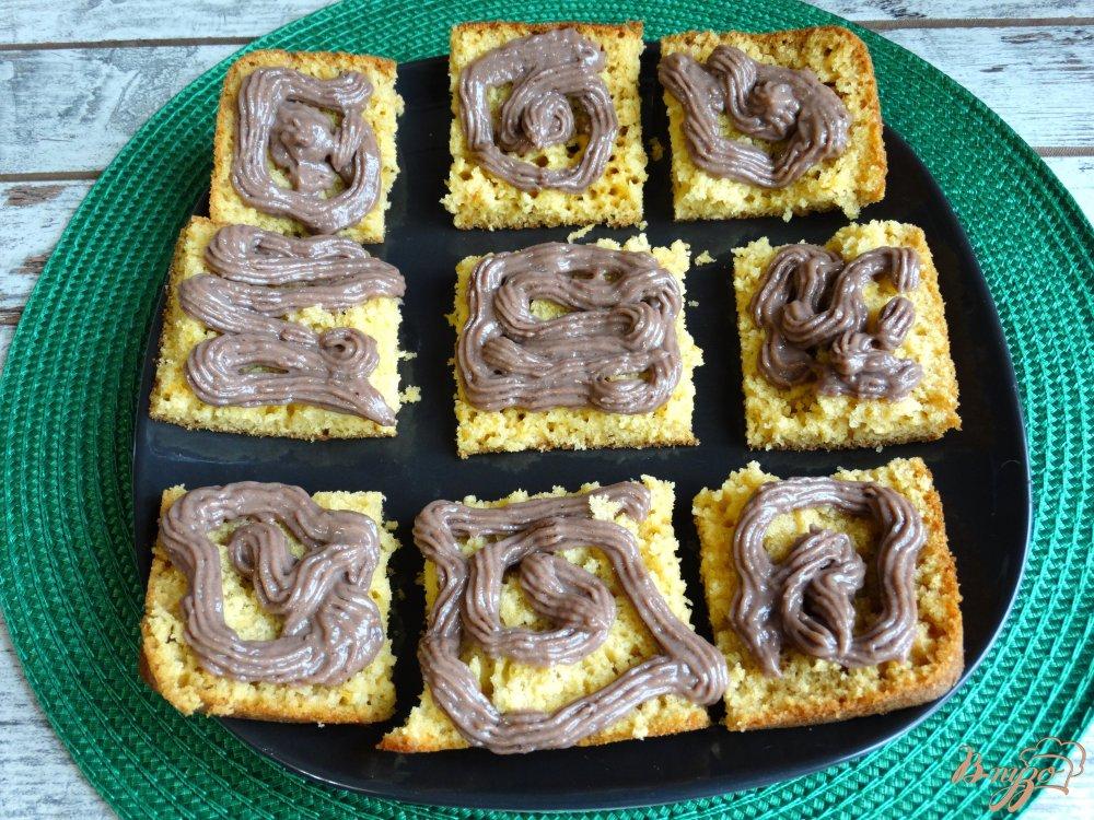 Фото приготовление рецепта: Тыквенные пирожные с заварным кремом шаг №10