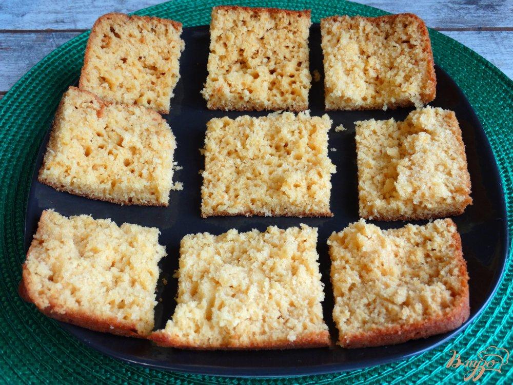 Фото приготовление рецепта: Тыквенные пирожные с заварным кремом шаг №7