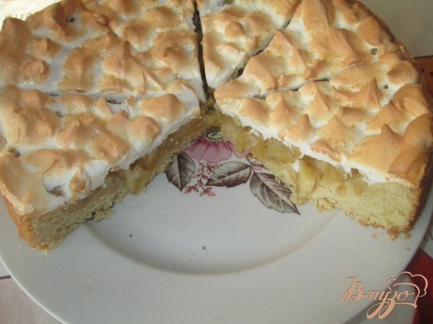 яблочный пирог на кефире с безе фото рецепт