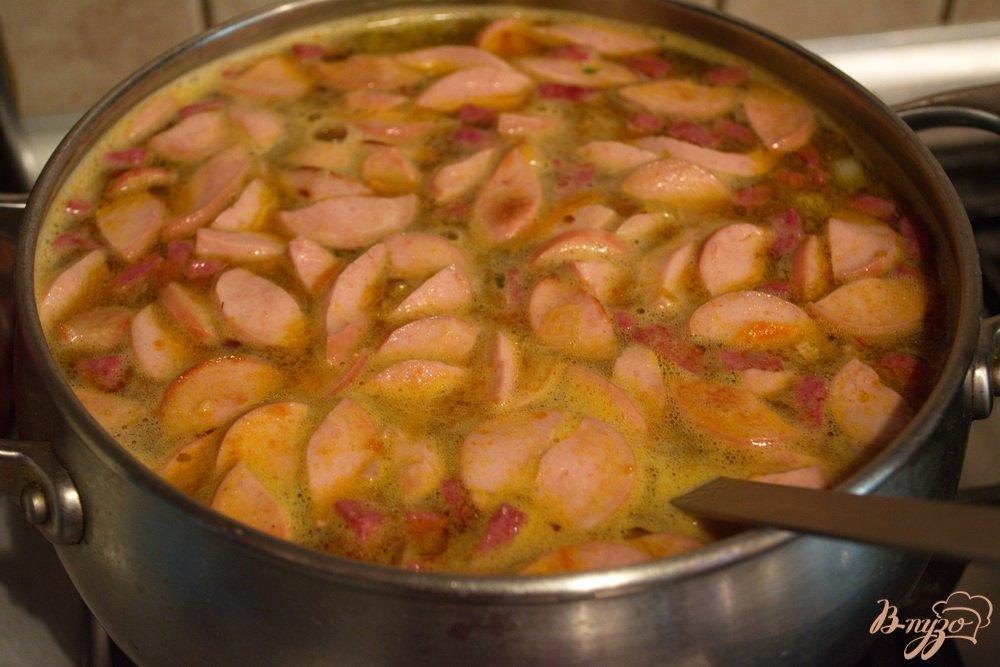 Фото приготовление рецепта: Студенческая солянка без бульона шаг №10