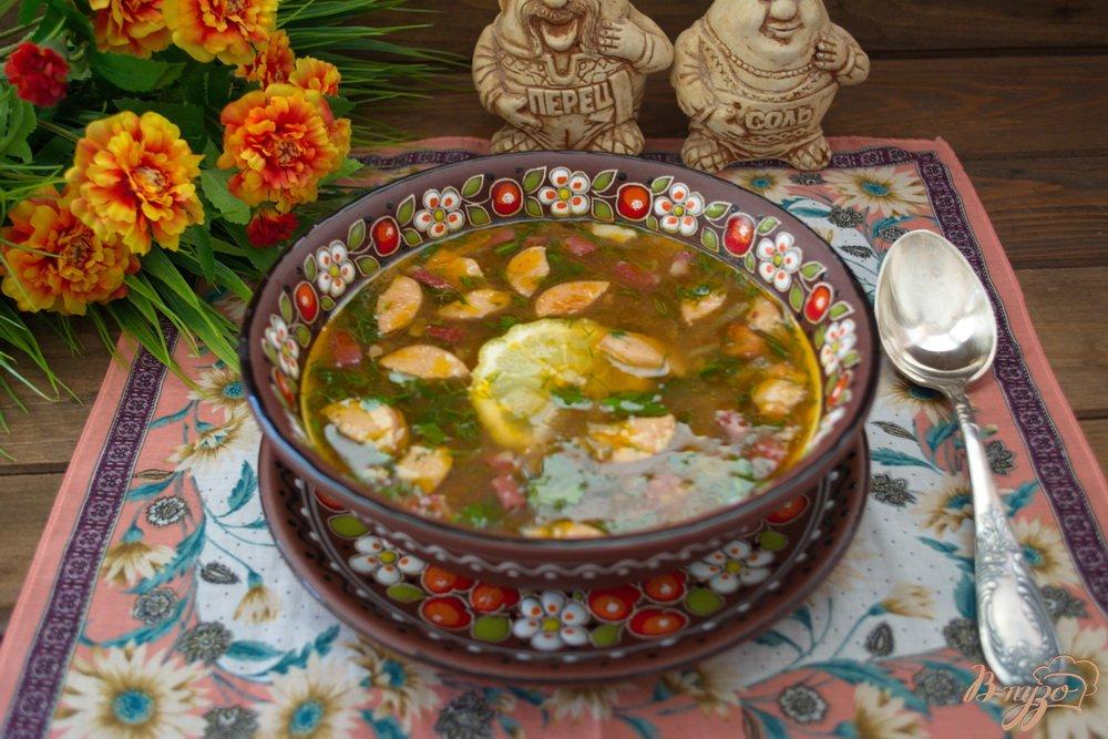 Фото приготовление рецепта: Студенческая солянка без бульона шаг №12