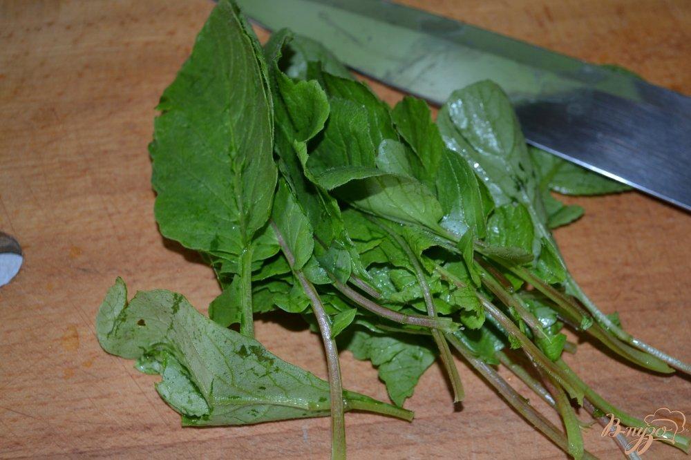 Фото приготовление рецепта: Салат из редиса и зелени шаг №1