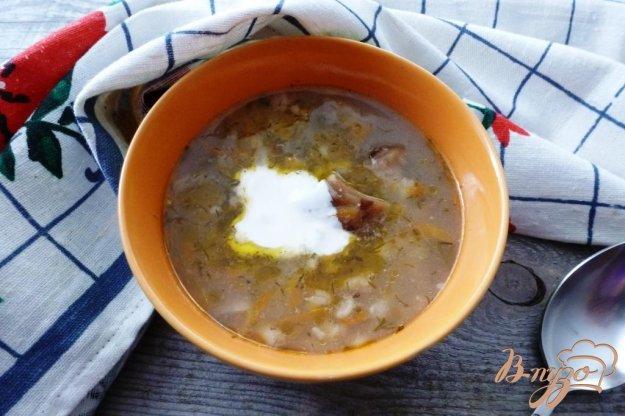 фото рецепта: Суп с солеными грибами и перловкой