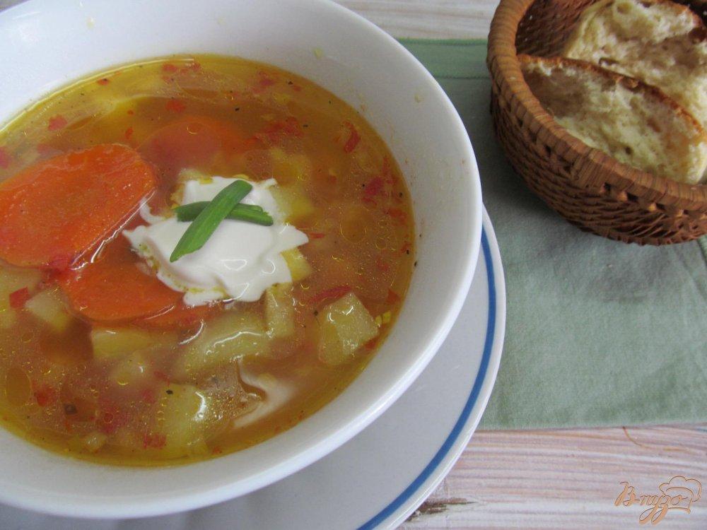 Фото приготовление рецепта: Томатный суп карри шаг №8