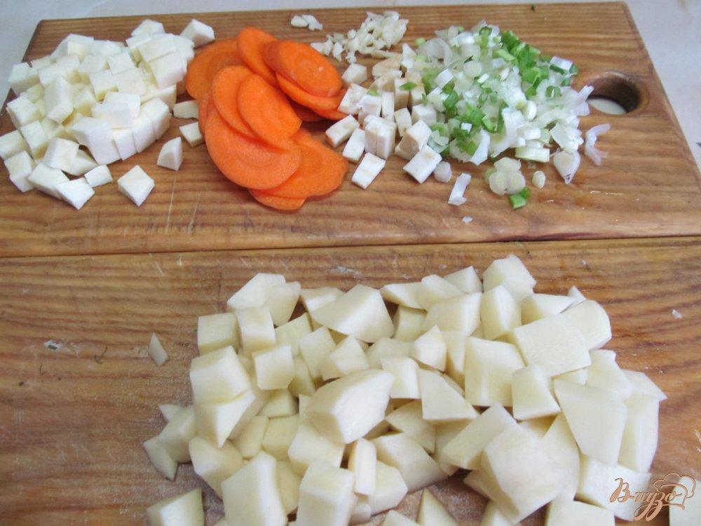Фото приготовление рецепта: Томатный суп карри шаг №3