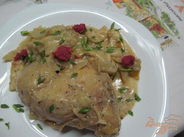 фото рецепта: Курица с капустой в горчичном соусе