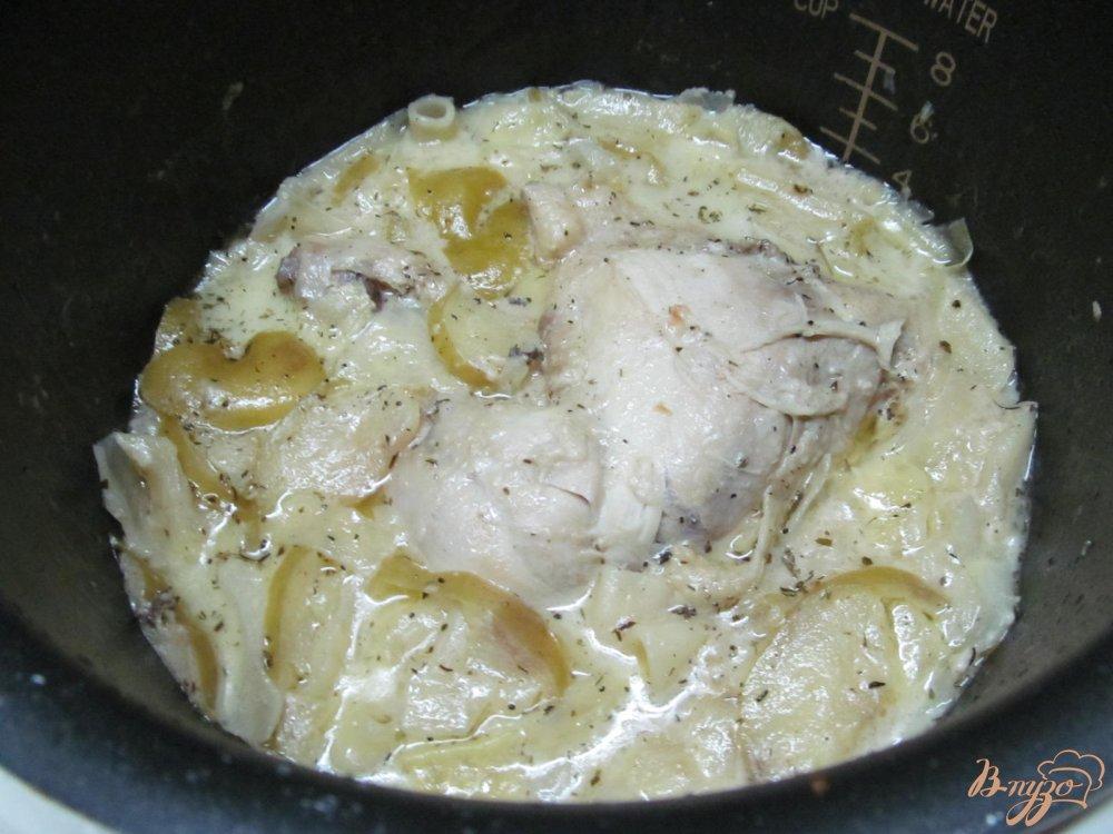Фото приготовление рецепта: Курица с капустой в горчичном соусе шаг №12