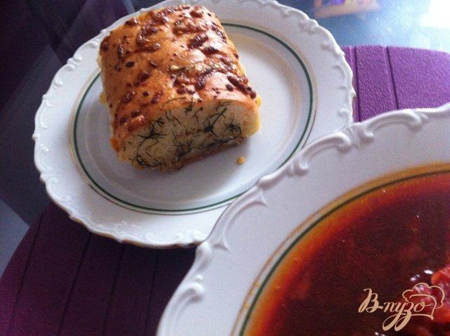 Фото приготовление рецепта: Ароматный багет шаг №5