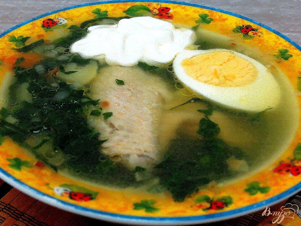 Фото приготовление рецепта: Суп с крапивой и шпинатом шаг №10