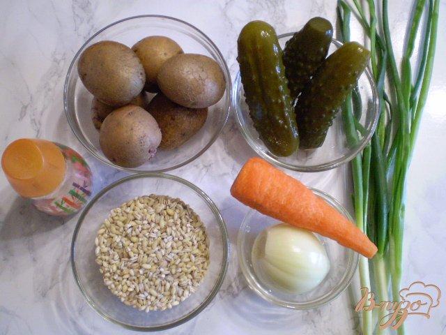 Фото приготовление рецепта: Рассольник на курином бульоне шаг №1