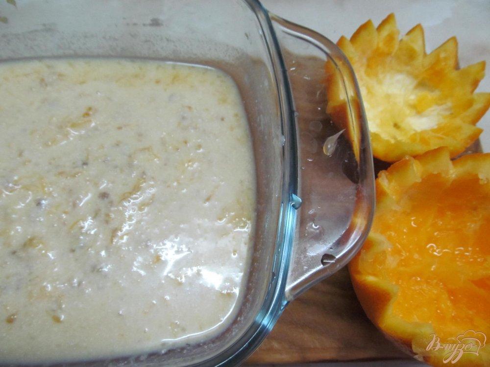 Фото приготовление рецепта: Апельсиновый десерт шаг №4