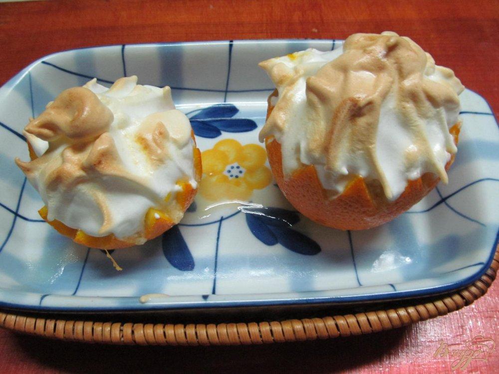 Фото приготовление рецепта: Апельсиновый десерт шаг №7