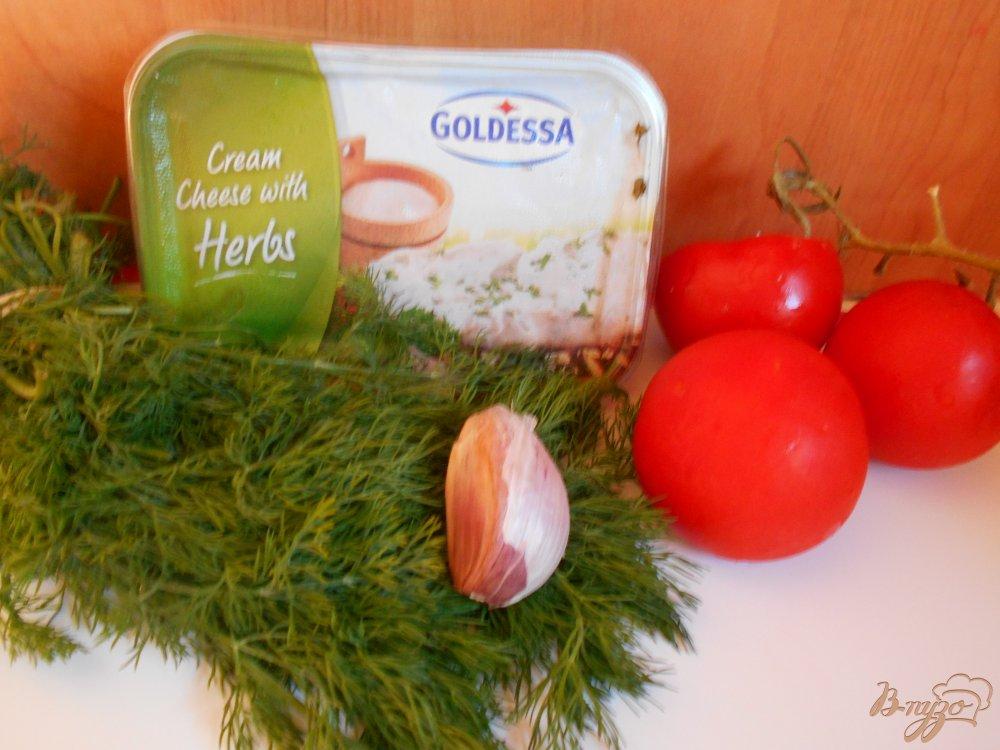 Фото приготовление рецепта: Помидоры фаршированные сыром с чесноком шаг №1