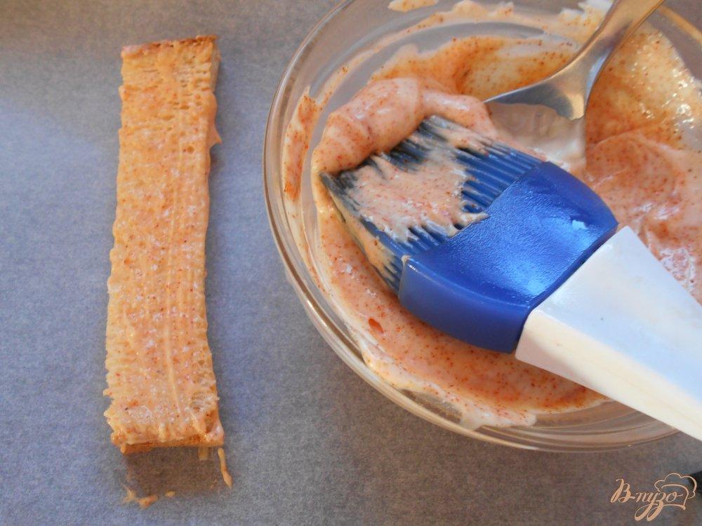 Фото приготовление рецепта: Хлебные палочки пикантные шаг №6