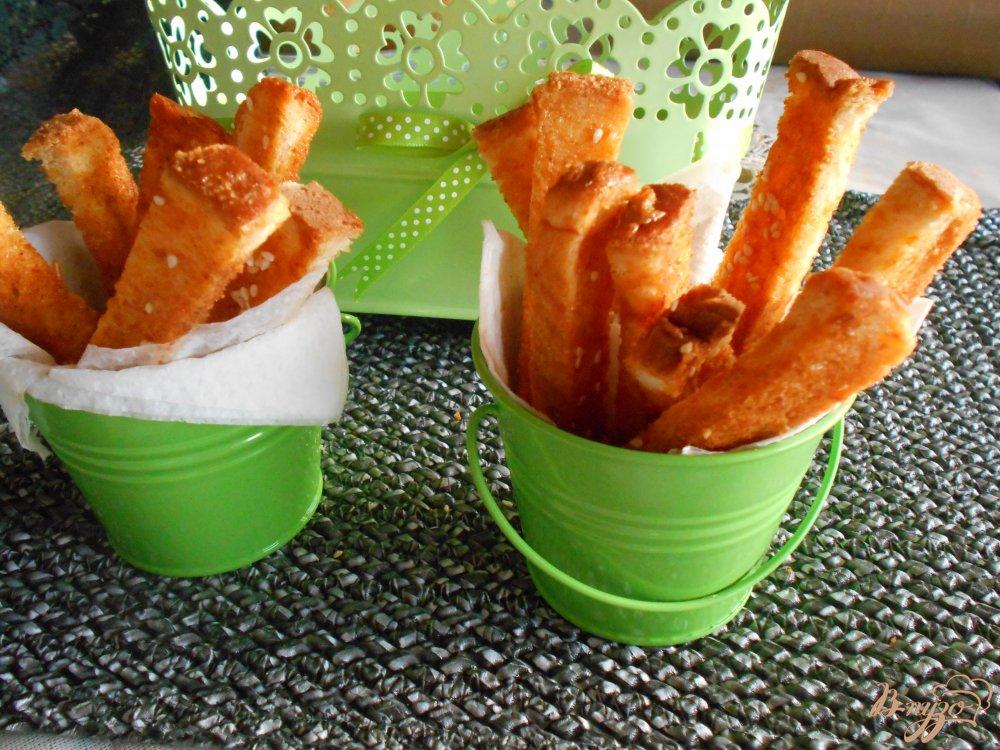Фото приготовление рецепта: Хлебные палочки пикантные шаг №8