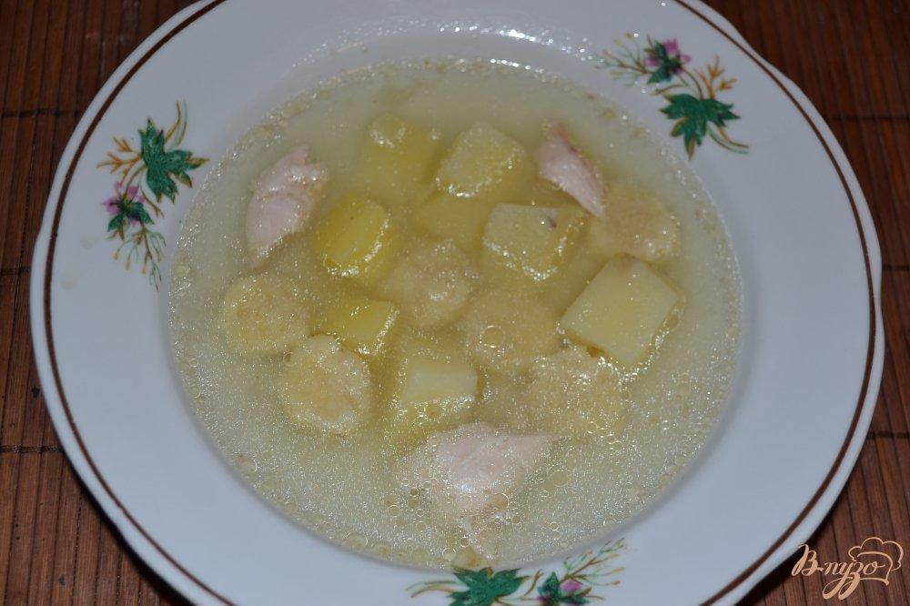 Фото приготовление рецепта: Детский суп с клецками шаг №8