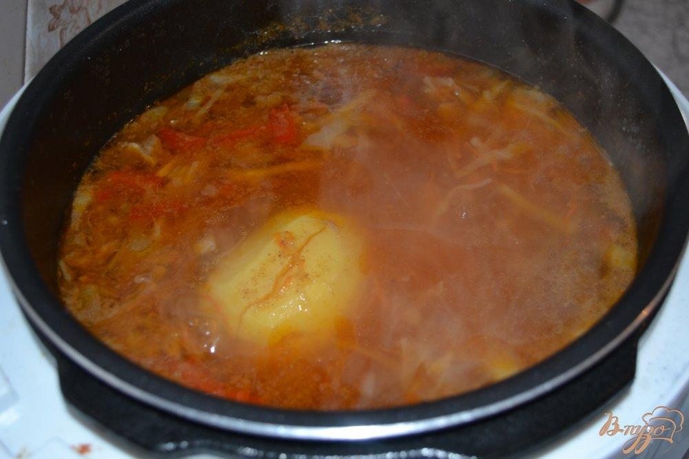 Фото приготовление рецепта: Красный борщ в мультиварке-скороварке шаг №13