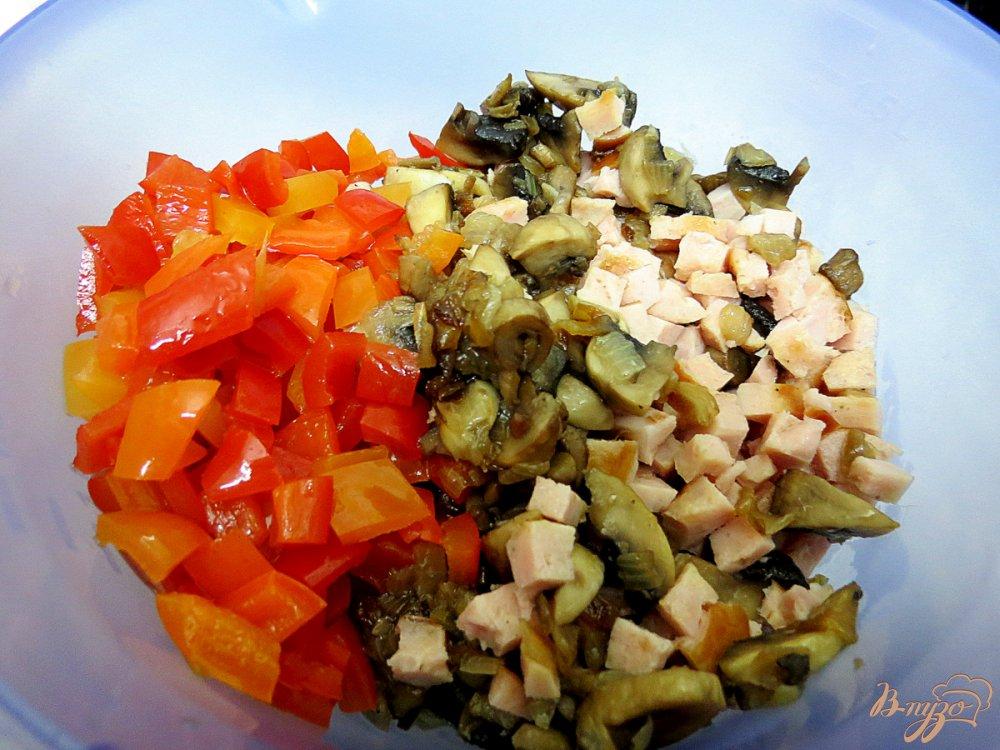 Фото приготовление рецепта: Багет фаршированный шаг №6