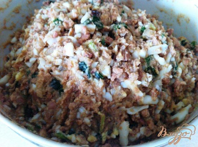 Фото приготовление рецепта: Салат из печени трески шаг №10