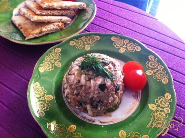 фото рецепта: Салат из печени трески