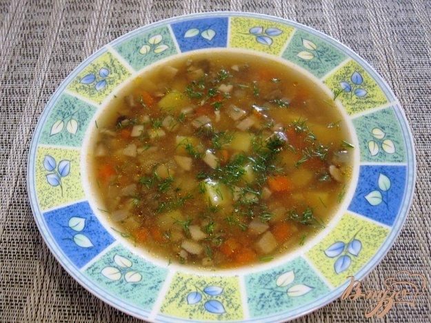 фото рецепта: Суп с помидорами и грибами
