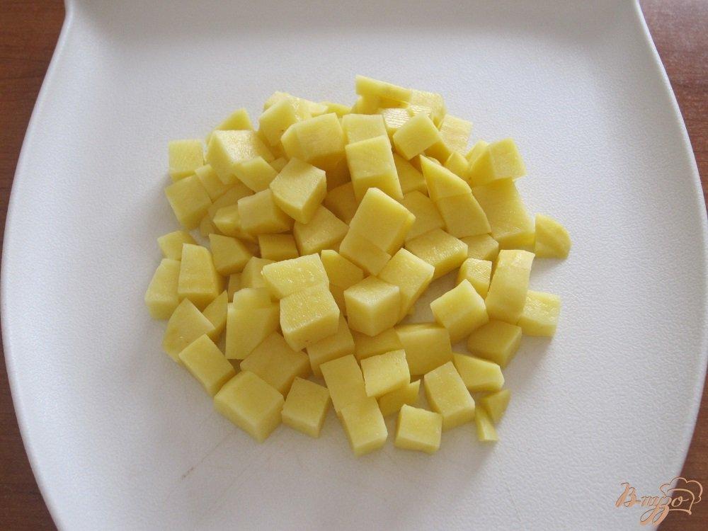 Фото приготовление рецепта: Суп с помидорами и грибами шаг №4