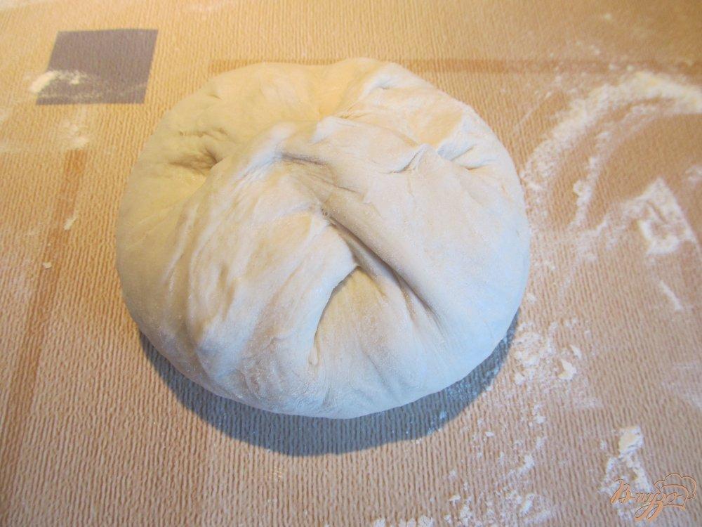 Фото приготовление рецепта: Хачапури с брынзой шаг №8