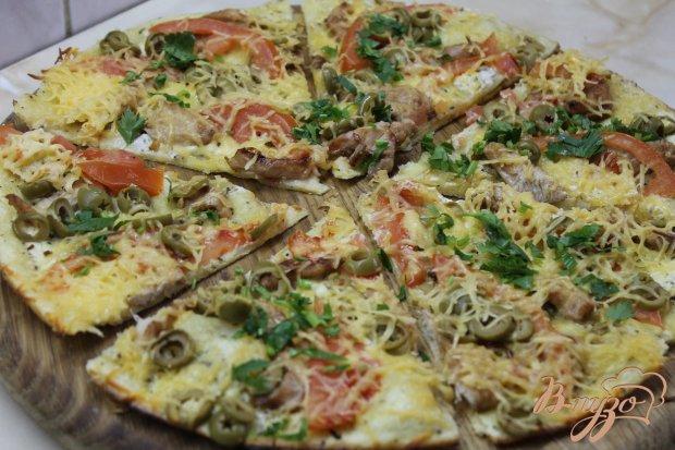 Сливочная пицца с курочкой